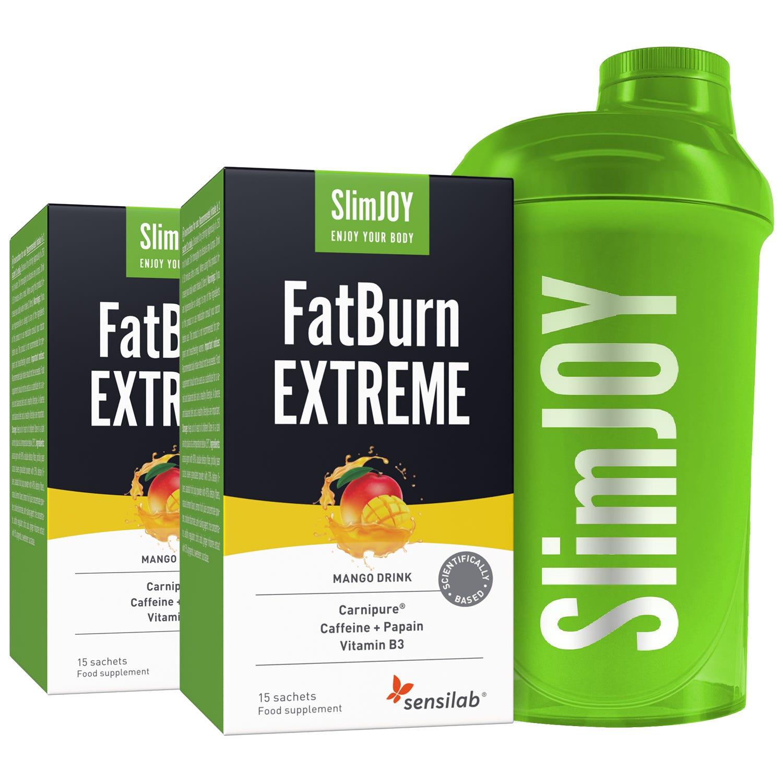 FatBurn Extreme | 1+1 OFFERT | Cadeau : Shaker | Boisson puissante pour brûler les graisses, effet thermogénique, perte de graisse maximale | SlimJOY.