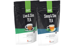 A day and night tea duo that supports weight loss: PretTEA Slim
